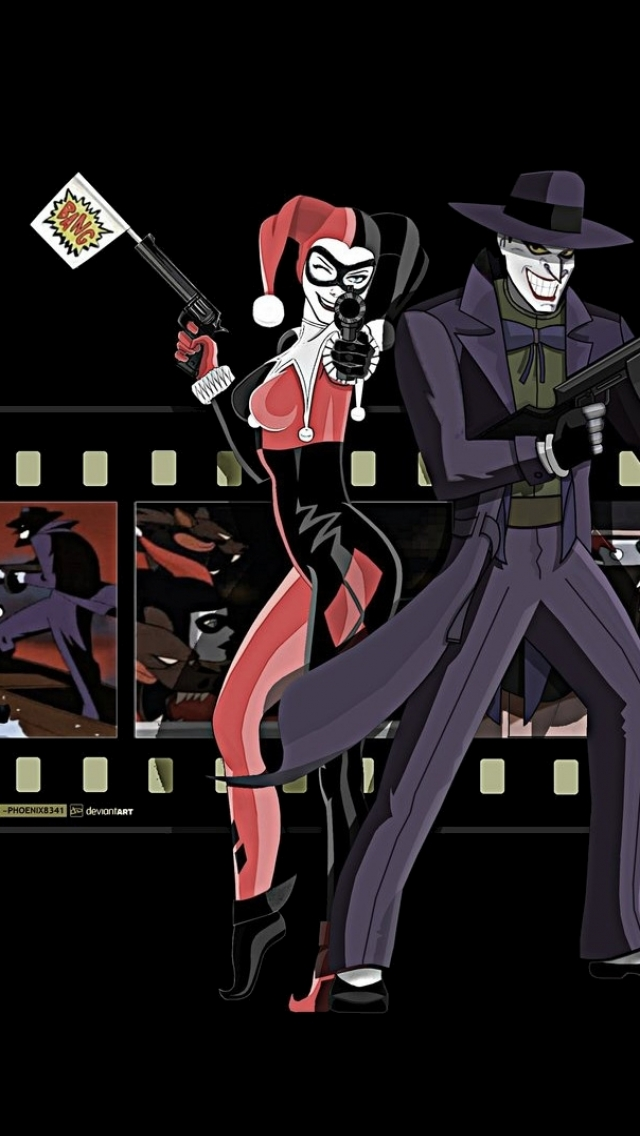 Comics Harley Quinn 640x1136 Mobile Wallpaper