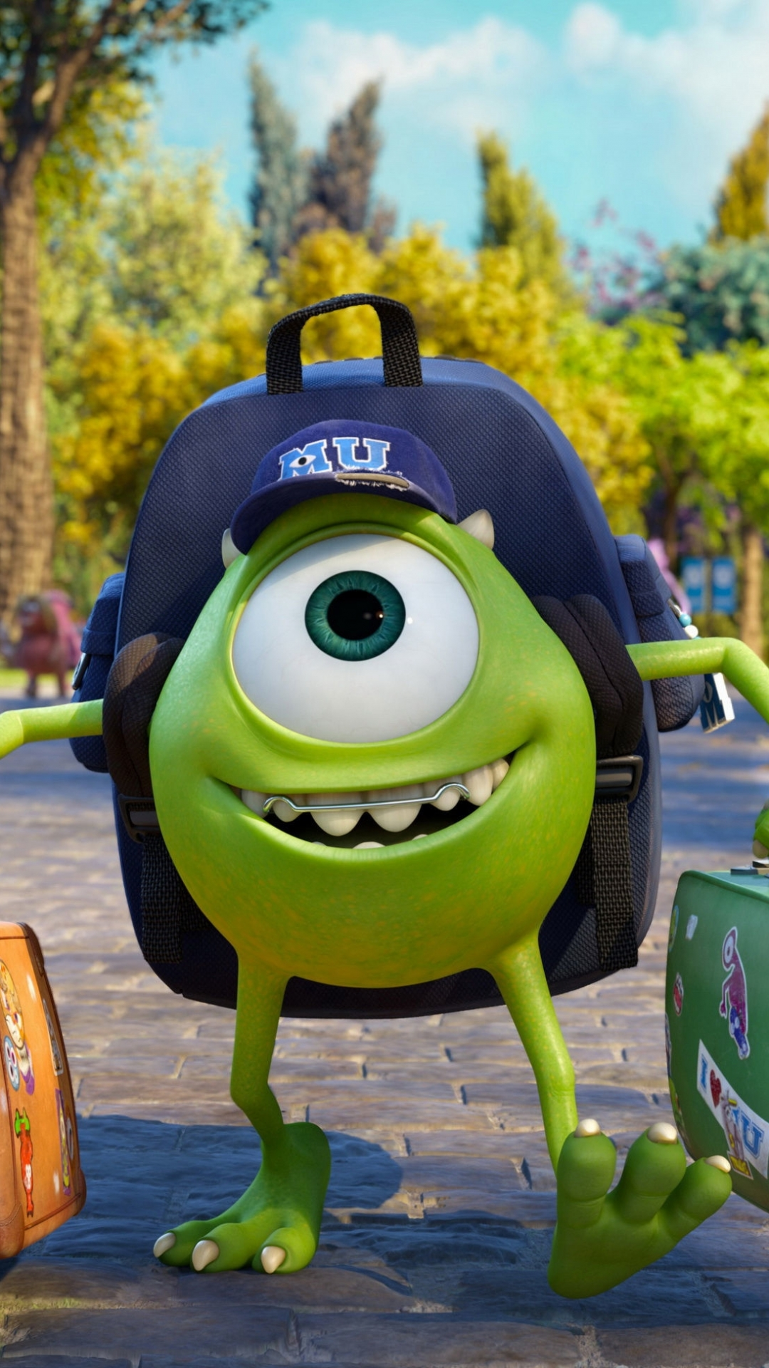 Wallpaper iphone monster university - Movie Monsters University Mike Wazowski Wallpaper 131995