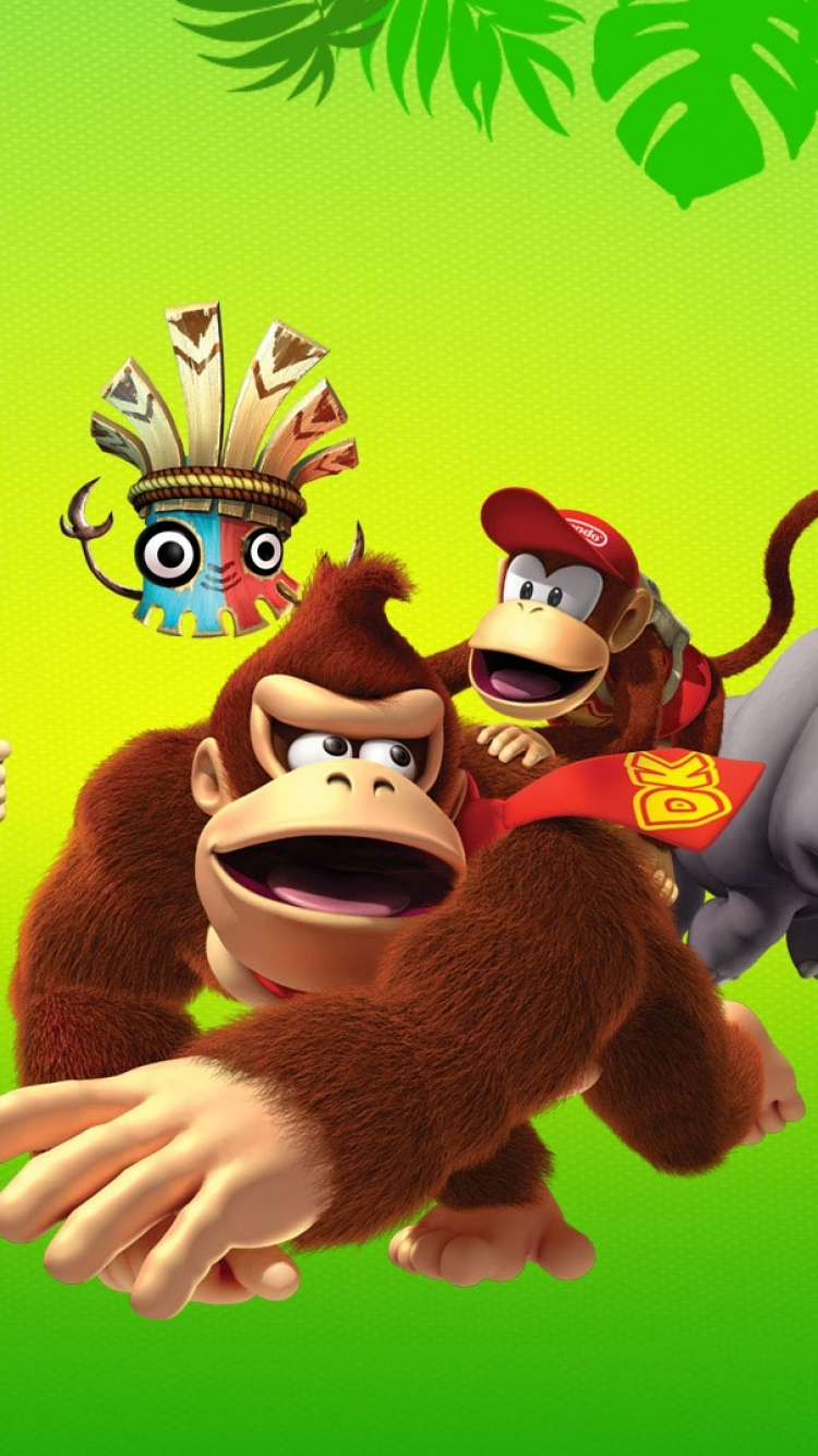 Video Game Donkey Kong Country Returns 750x1334 Wallpaper Id