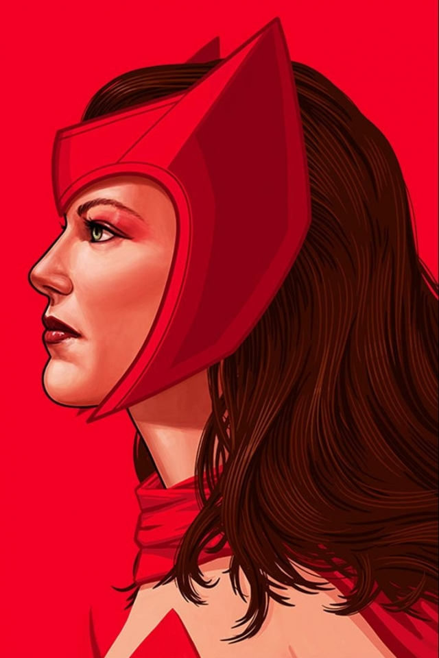 Comics Scarlet Witch 640x960 Mobile Wallpaper