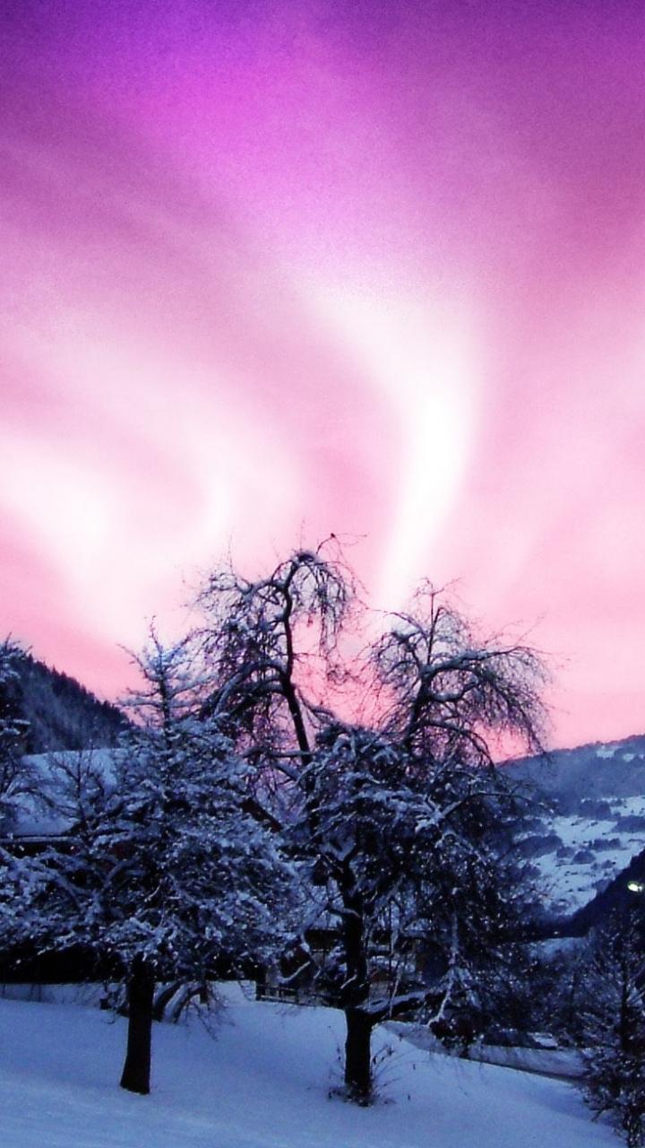 Christmas Lights Snow Wallpaper Hd