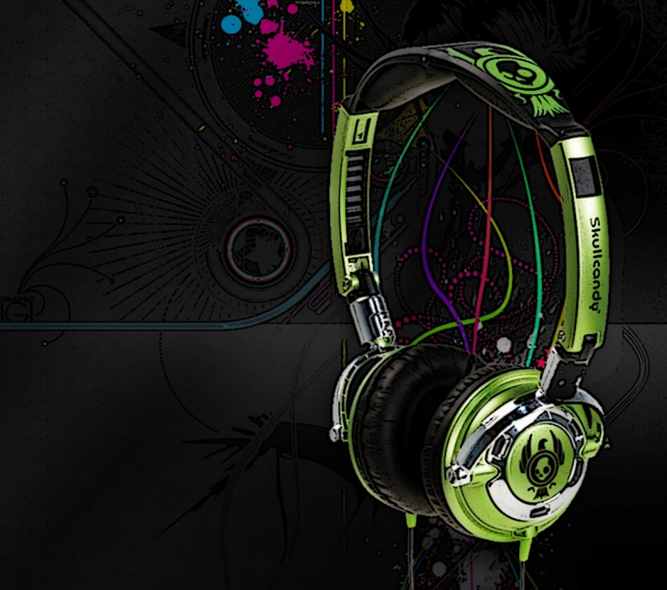 music headphones wallpaper