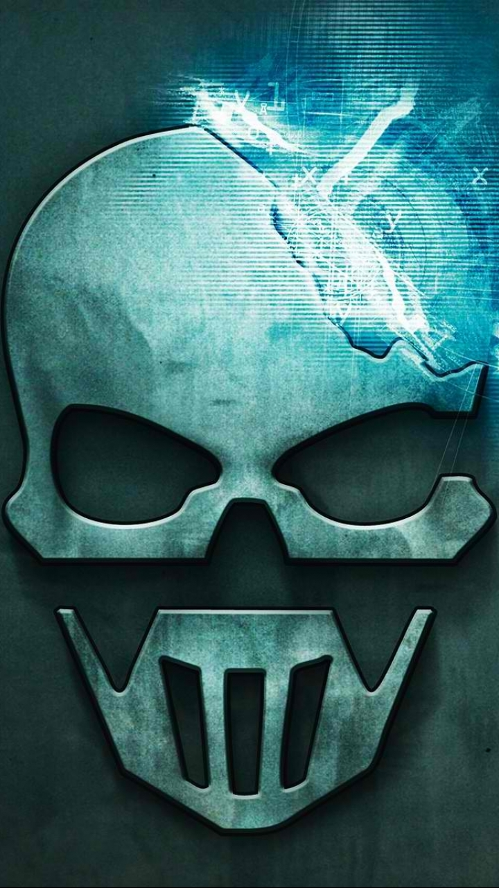 ... Clancyu0026#39;s Ghost Recon: Future Soldier Game Logo Skull Mobile Wallpaper
