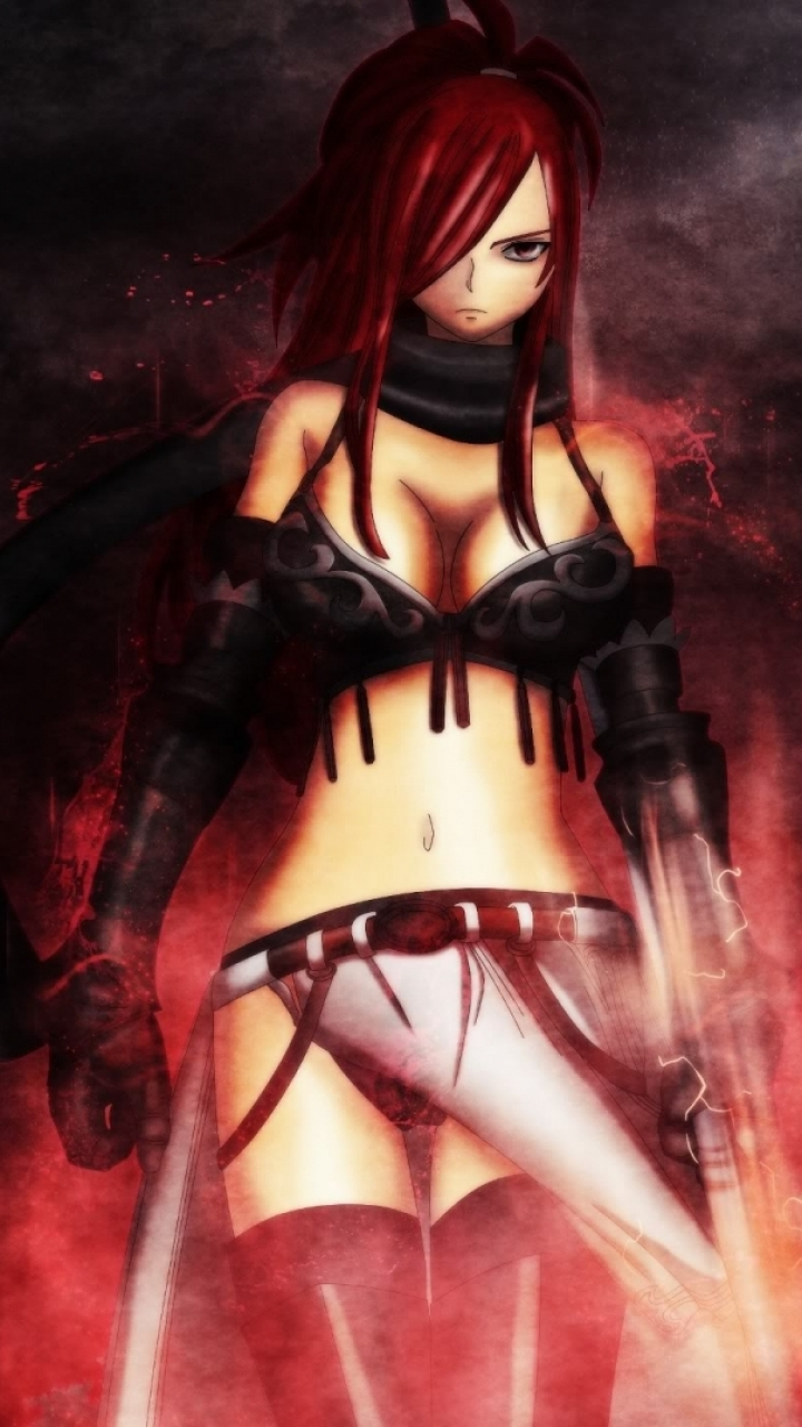 Anime fairy tail erza scarlet mobile wallpaper