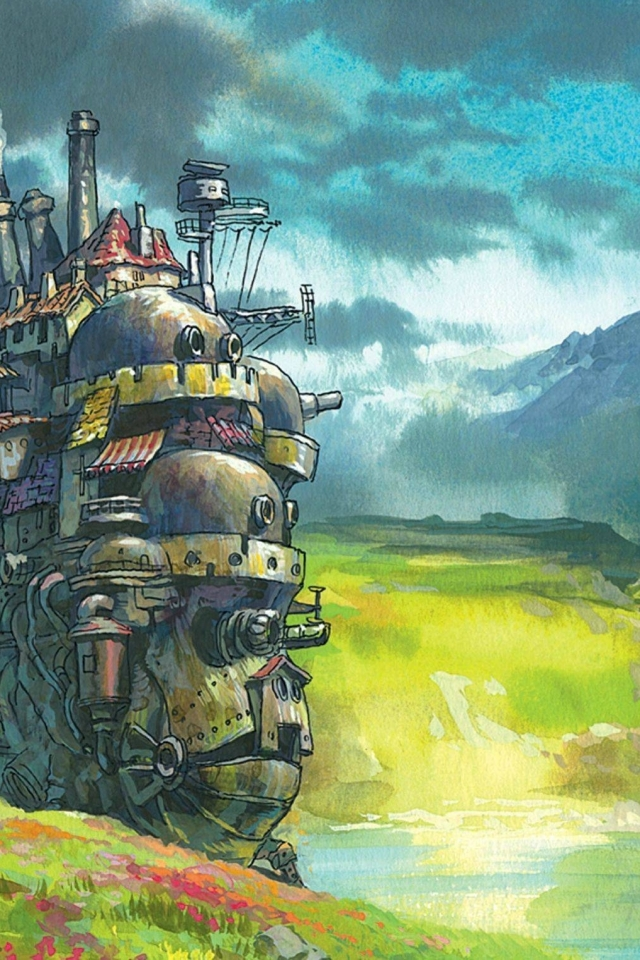 Movie Howls Moving Castle 640x960 Wallpaper ID 306241