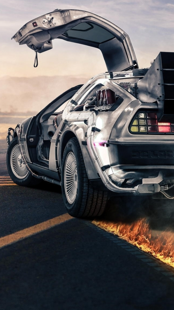 back to the future wallpaper iphone