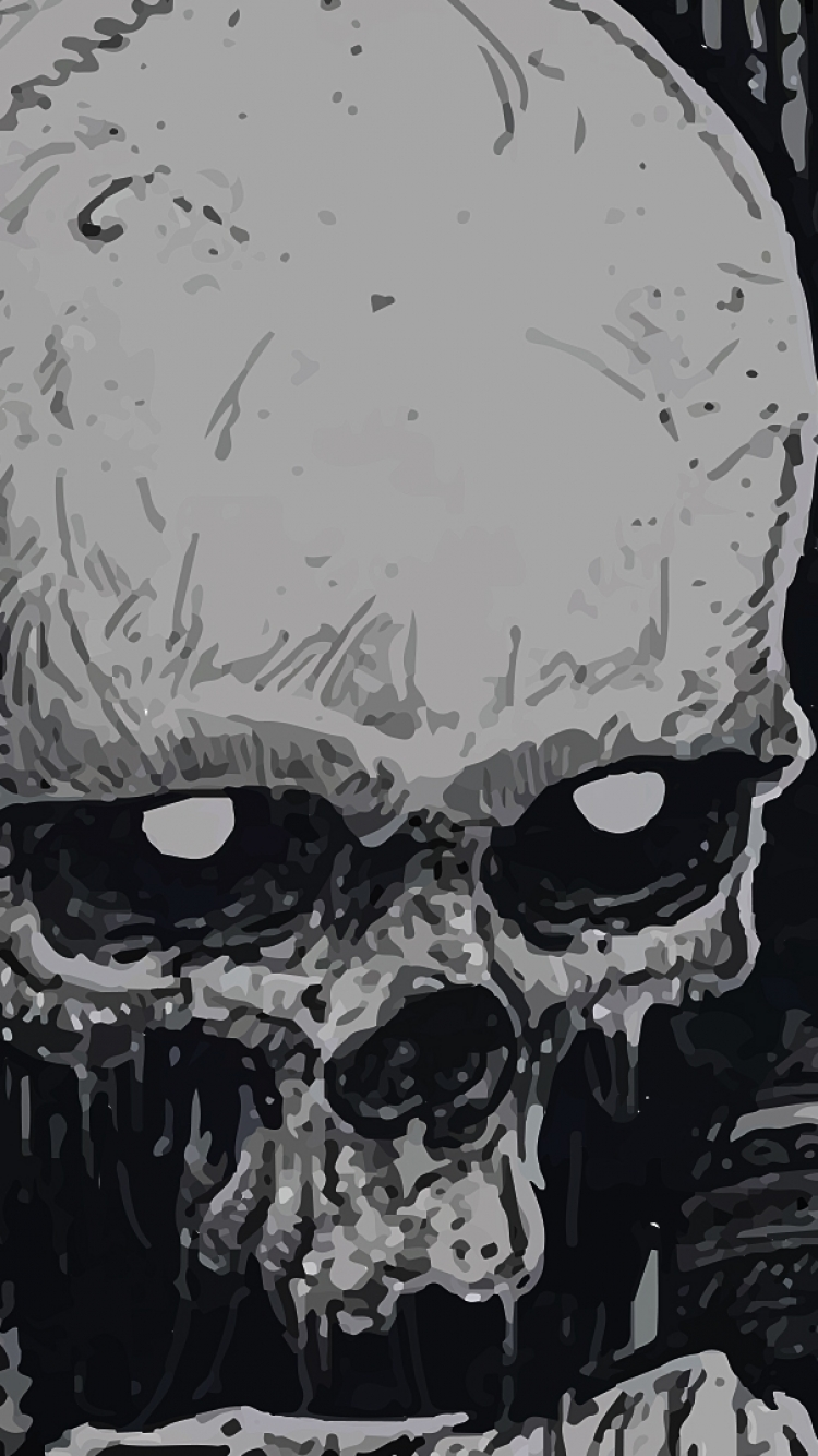 Dark Skull 750x1334 Mobile Wallpaper