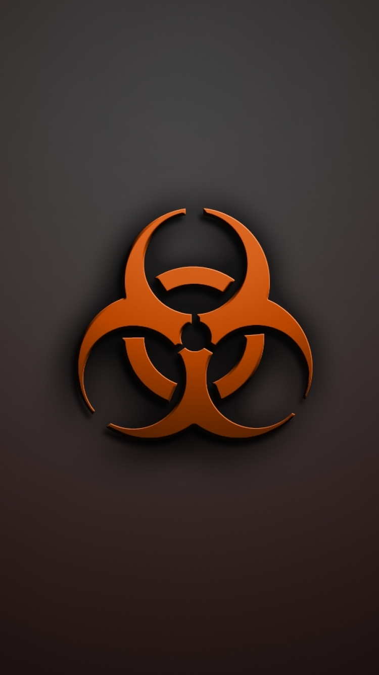 Biohazard Pattern iPhone 5 Wallpaper (640x1136)
