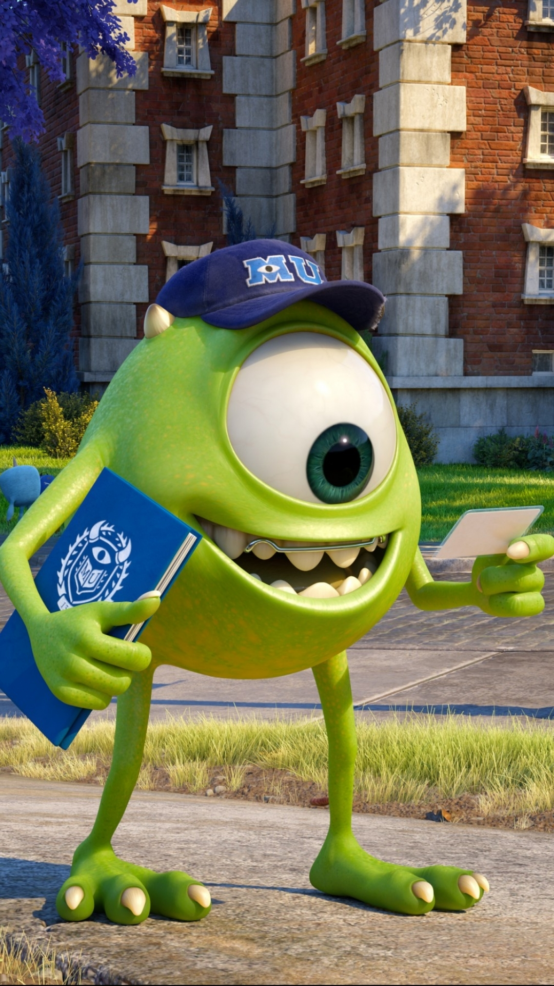 Wallpaper iphone monster university - Movie Monsters University Mike Wazowski Wallpaper 375089