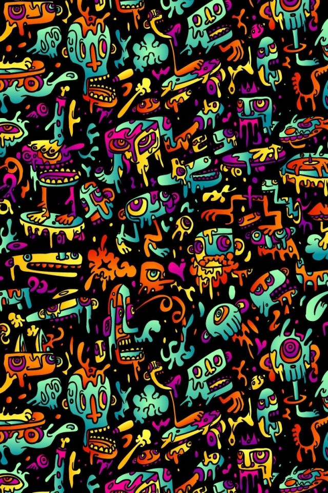Artistic Psychedelic 640x960 Mobile Wallpaper