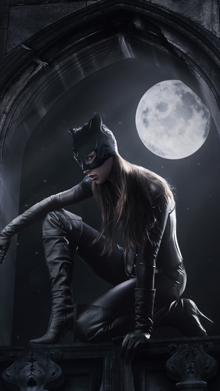 Download Catwoman Wallpaper Phone PNG