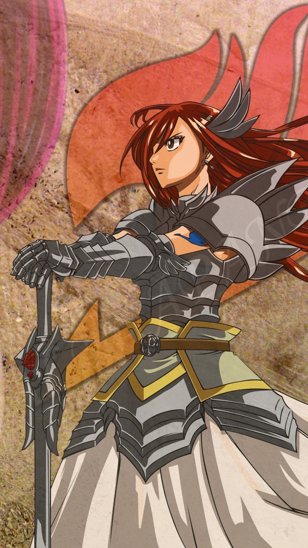 Iphone 6 anime fairy tail wallpaper id 474657 - Erza scarlet wallpaper ...