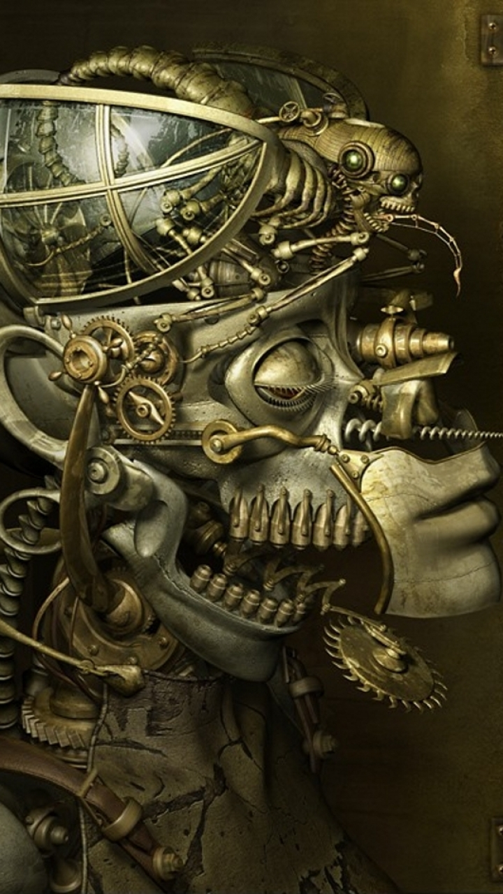 Biomechanical Steampunk Art