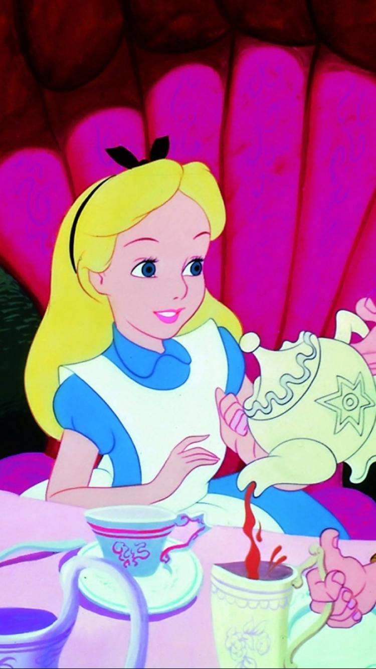 Iphone wallpaper cartoon - Cartoon Alice In Wonderland Mobile Wallpaper