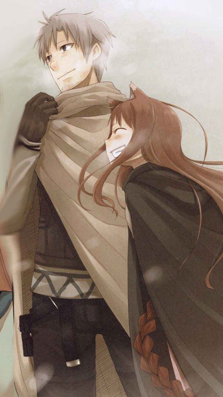 Anime Spice And Wolf 750x1334 Mobile Wallpaper