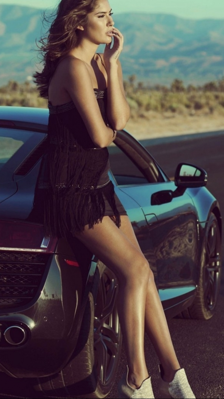 Women Girls Cars 720x1280 Wallpaper Id 527021 Mobile Abyss
