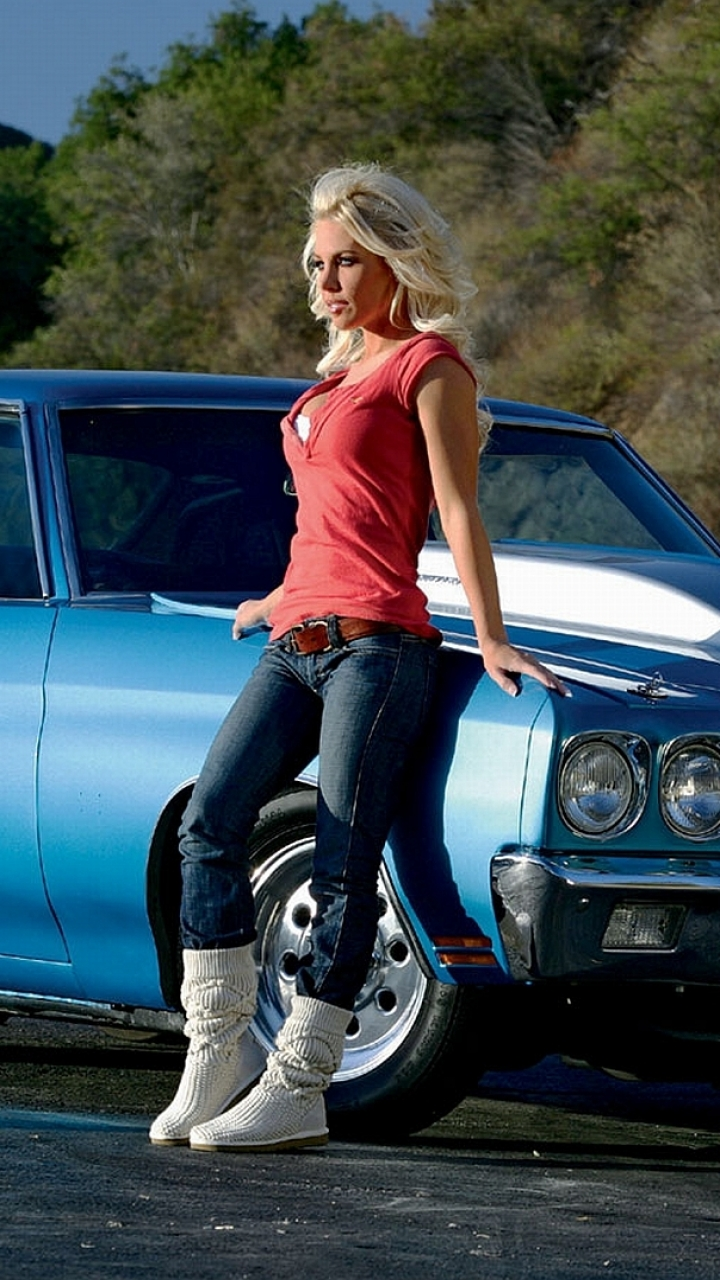 Women Girls Cars 720x1280 Wallpaper Id 527065 Mobile Abyss