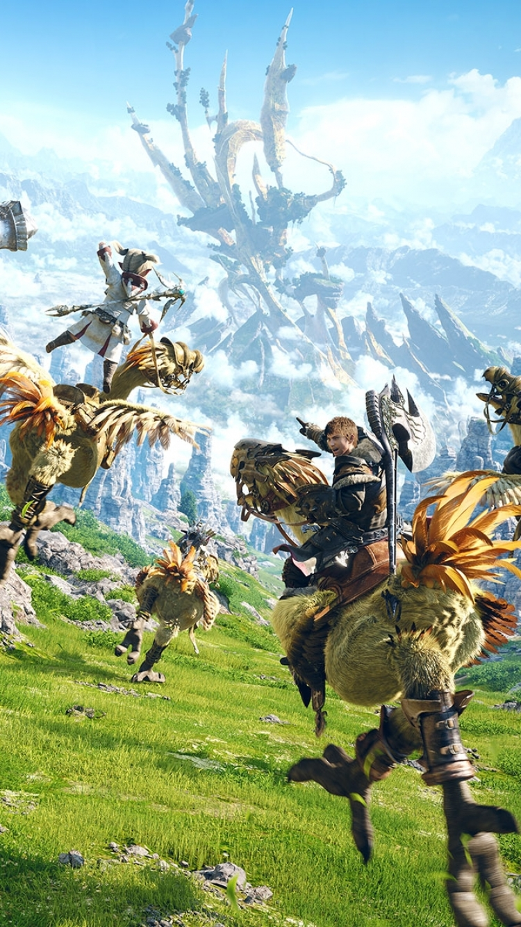 Video Game Final Fantasy Xiv A Realm Reborn 750x1334 Wallpaper