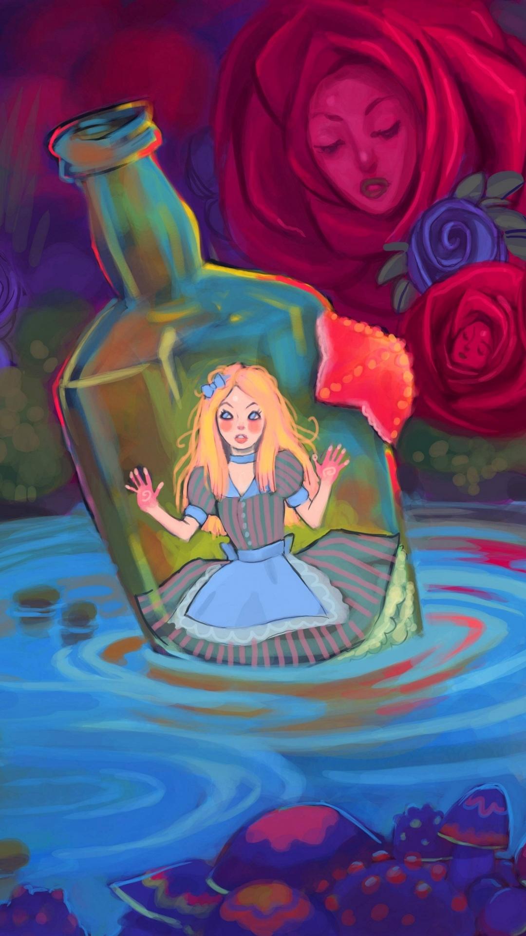 Wallpaper iphone alice wonderland - Fantasy Alice In Wonderland Wallpaper 569155