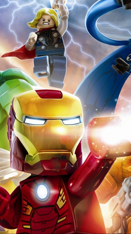 Video Game Lego Marvel Super Heroes 540x960 Wallpaper Id 575866