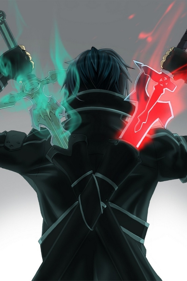 sword art online kirito wallpaper iphone galleryimageco