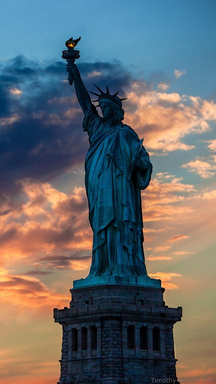 Man Made Statue Of Liberty 750x1334 Wallpaper ID 581363
