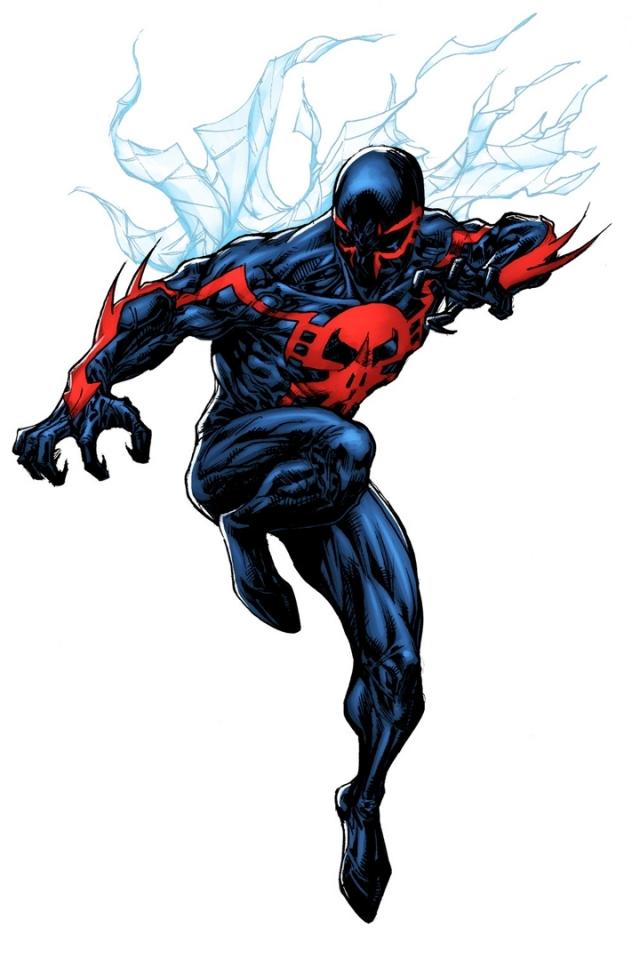 Comics Spider Man 2099 640x960 Mobile Wallpaper