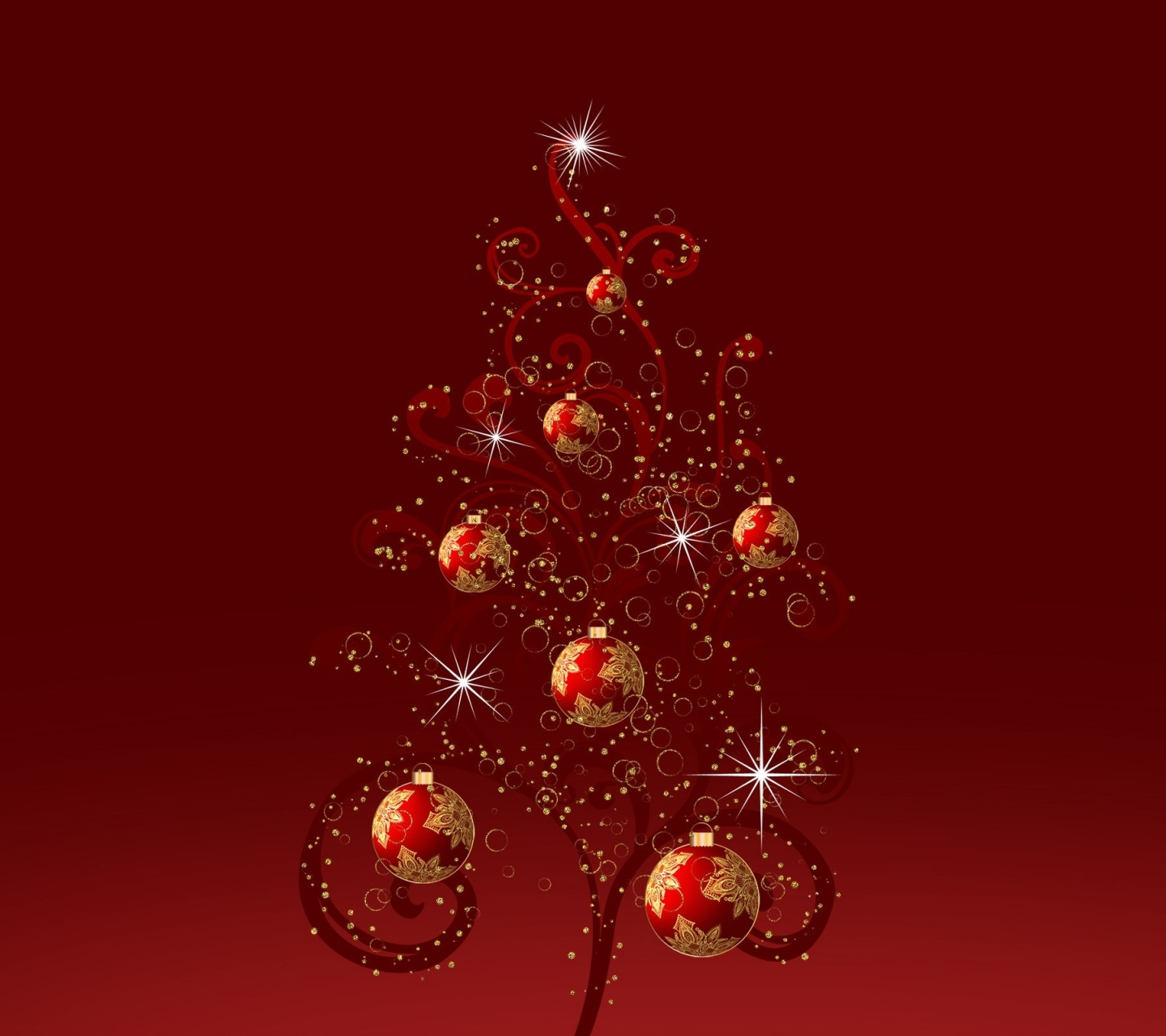 Red christmas tree wallpaper