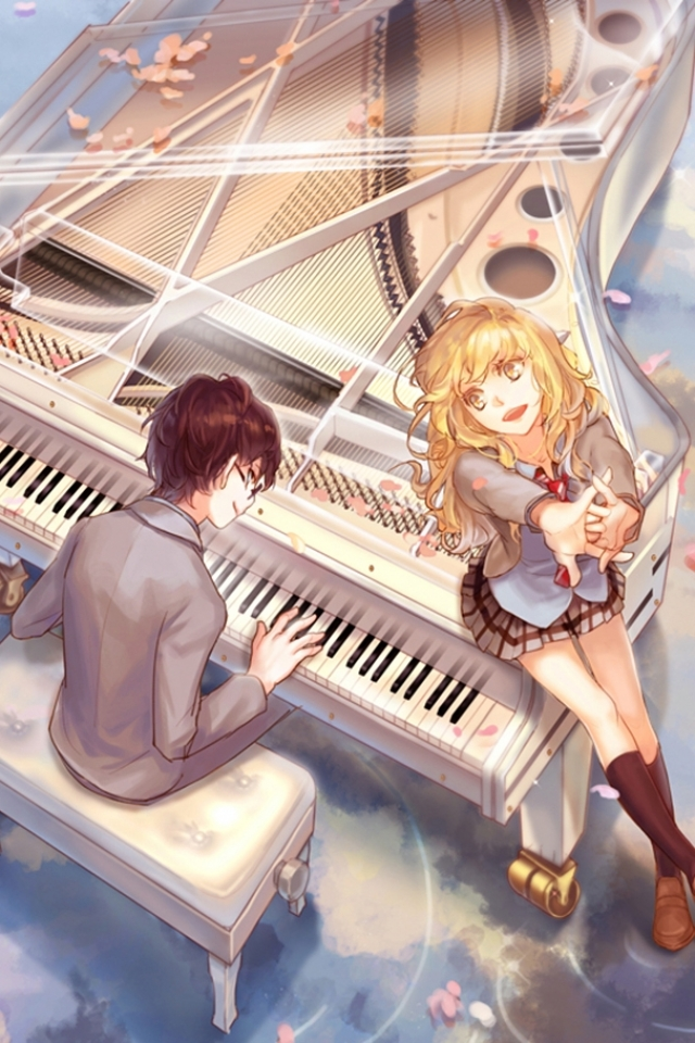 24 Your Lie In April Apple Iphone 4s 640x960 Wallpapers Mobile