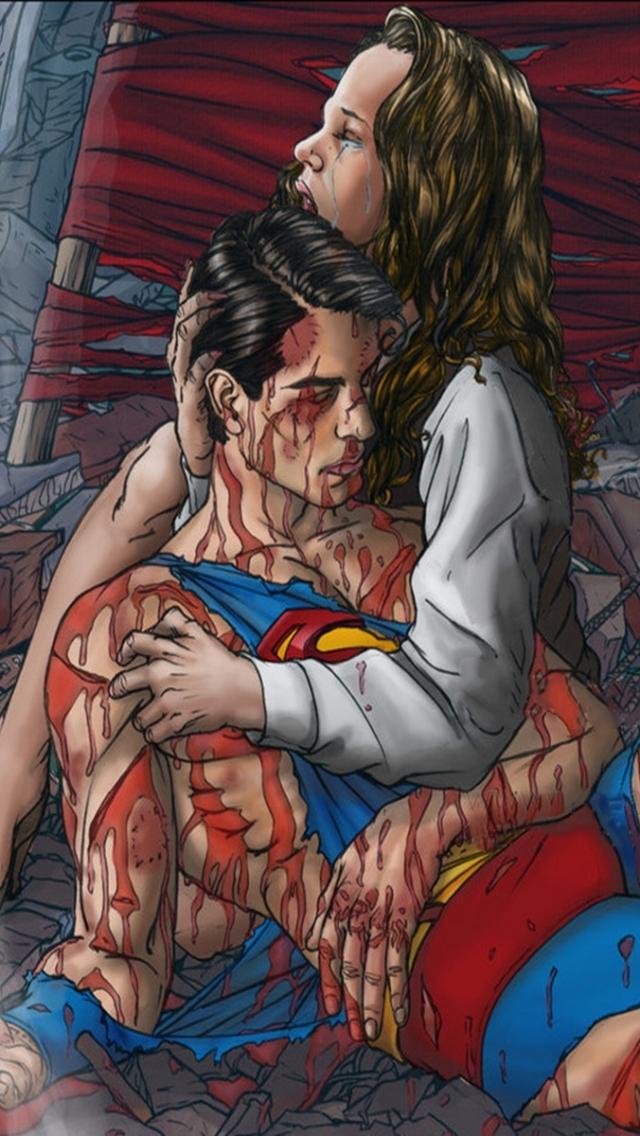 Comics The Death Of Superman 640x1136 Mobile Wallpaper