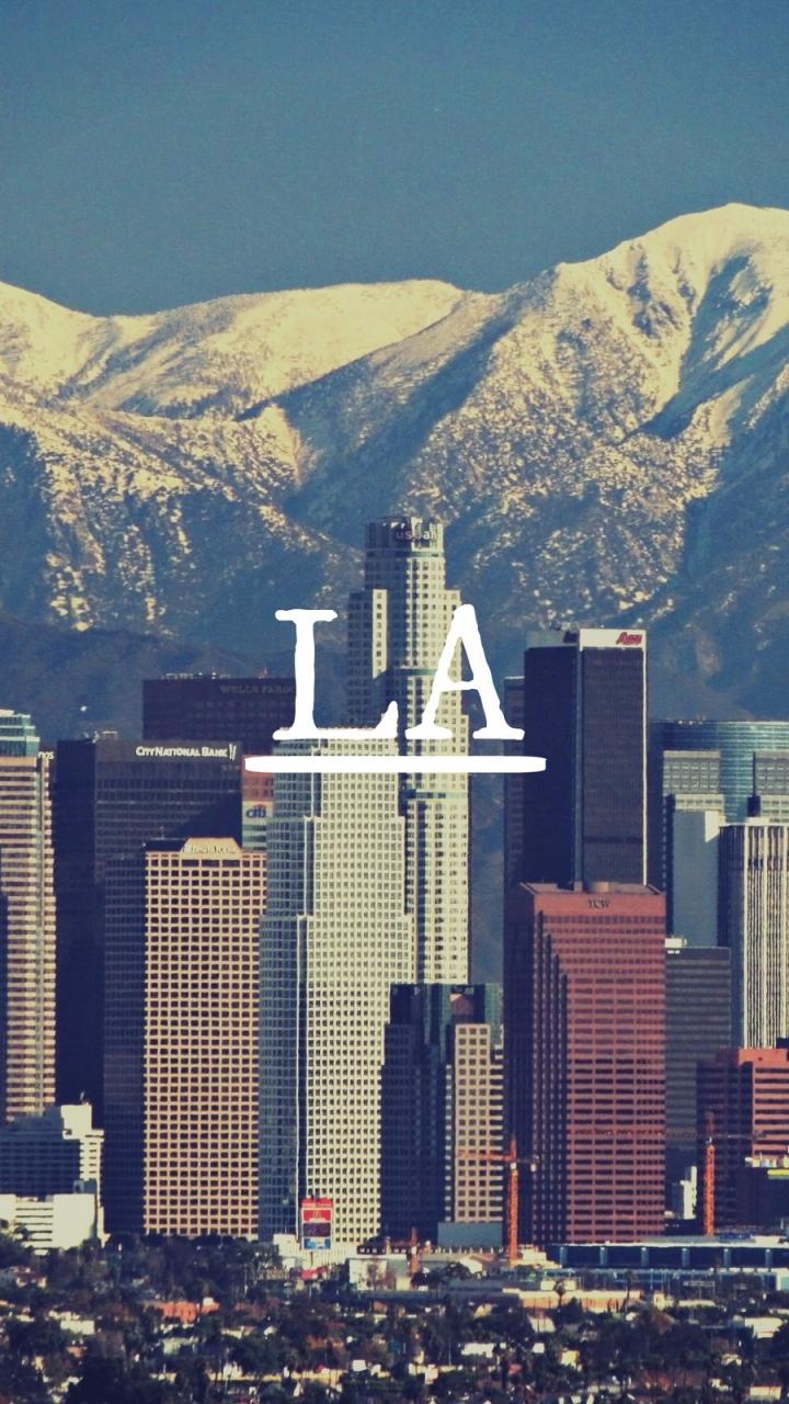 Man Made Los Angeles 720x1280 Wallpaper Id 594266