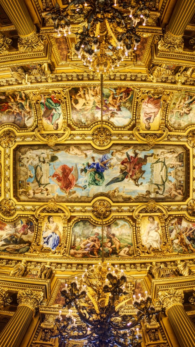 Man Made Palais Garnier 750x1334 Wallpaper Id 594416