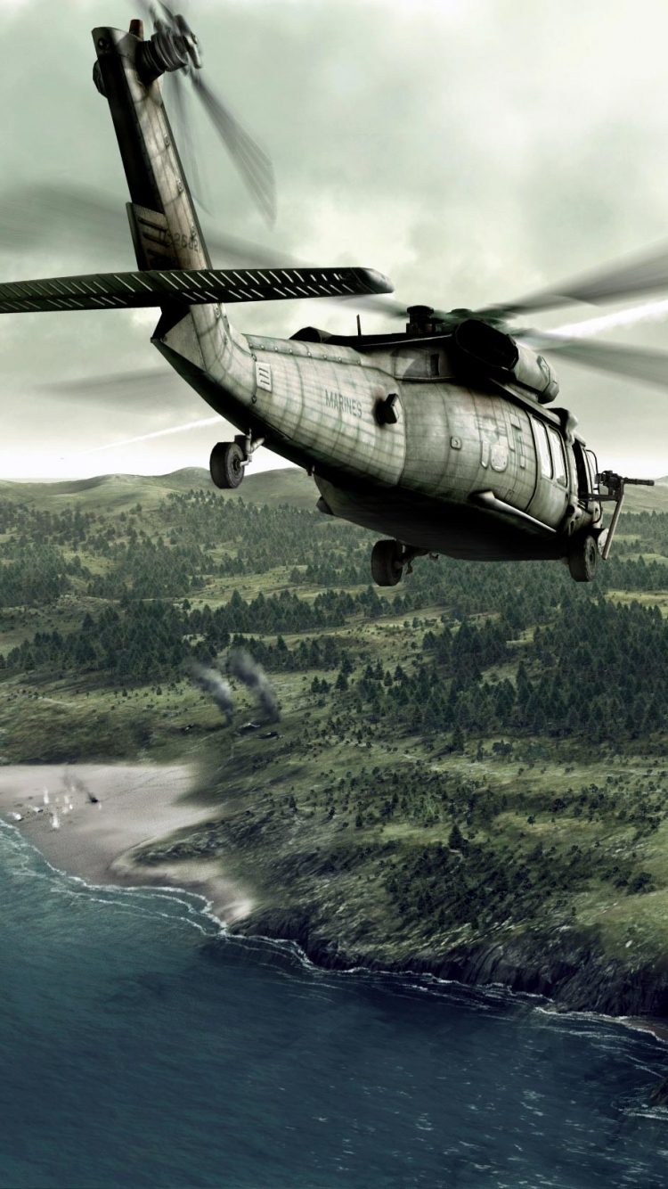 Military Helicopter 750x1334 Mobile Wallpaper