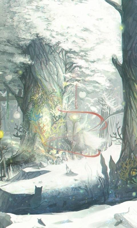 Galaxy J FantasyForest Wallpaper ID