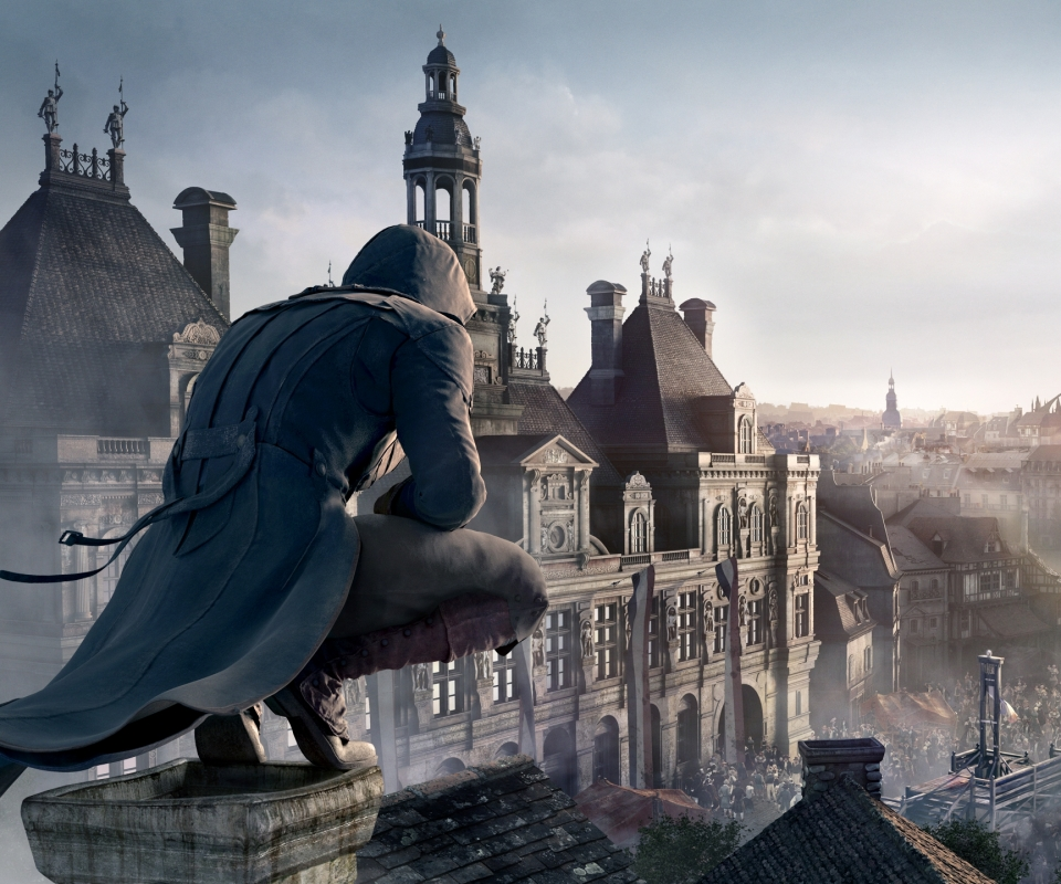 Video Game Assassins Creed Unity 960x800 Mobile Wallpaper