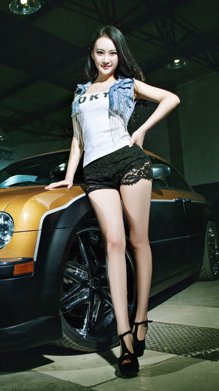 Women Girls Cars 720x1280 Wallpaper ID 603548