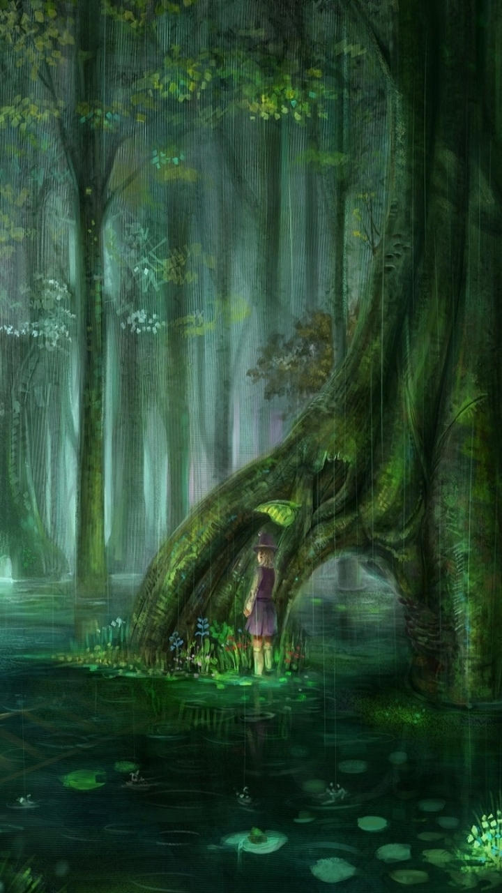 Fantasy Forest 720x1280 Wallpaper Id 609640 Mobile Abyss