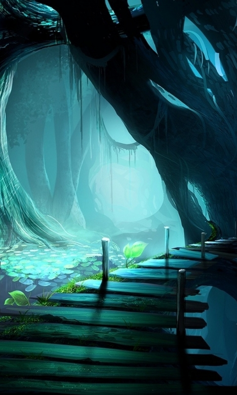 Windows Phone S FantasyForest Wallpaper ID