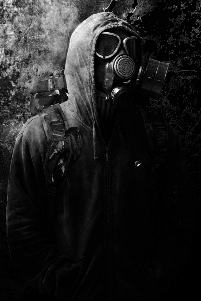 Dark/Gas Mask (640x960) Wallpaper ID: 610595 - Mobile Abyss