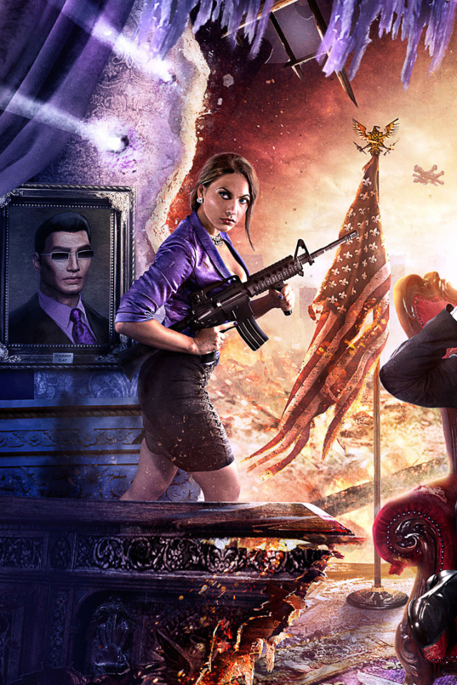 Video Gamesaints Row Iv 640x960 Wallpaper Id 613892