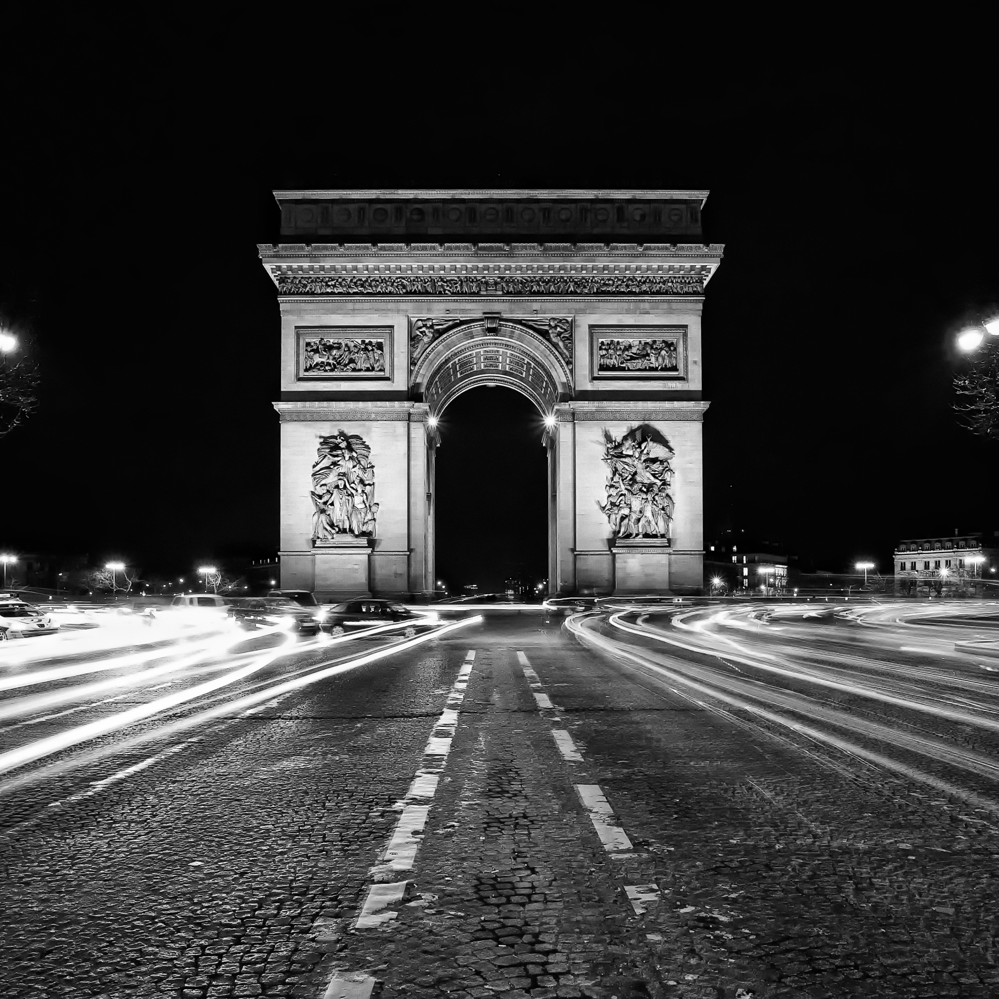 Arc De Triomphe Black And White HD desktop wallpaper ...