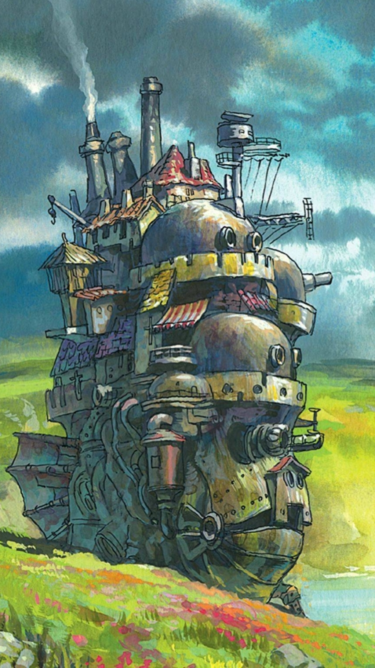 Movie Howls Moving Castle 750x1334 Mobile Wallpaper