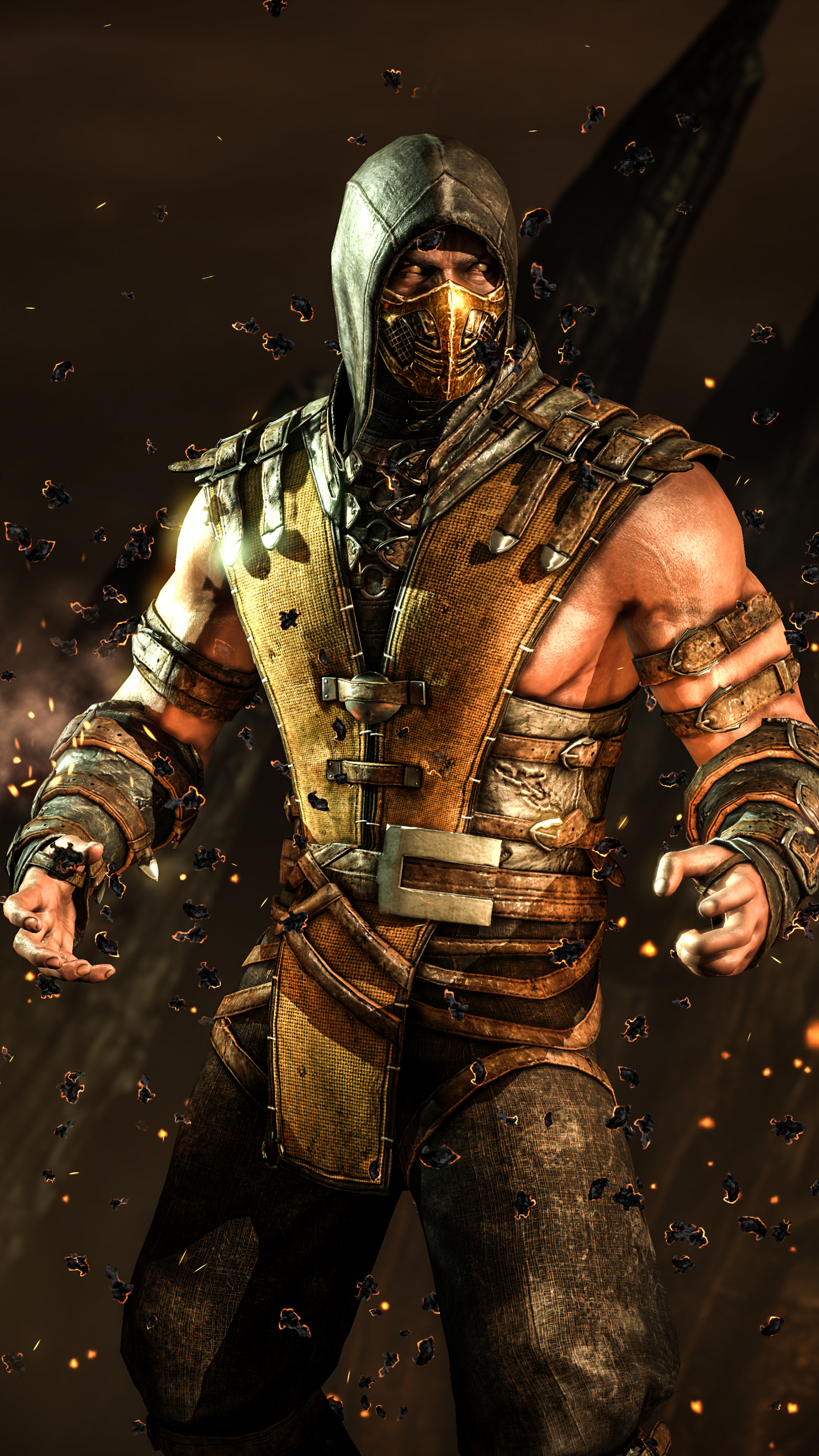 scorpion mortal kombat x iphone wallpaper