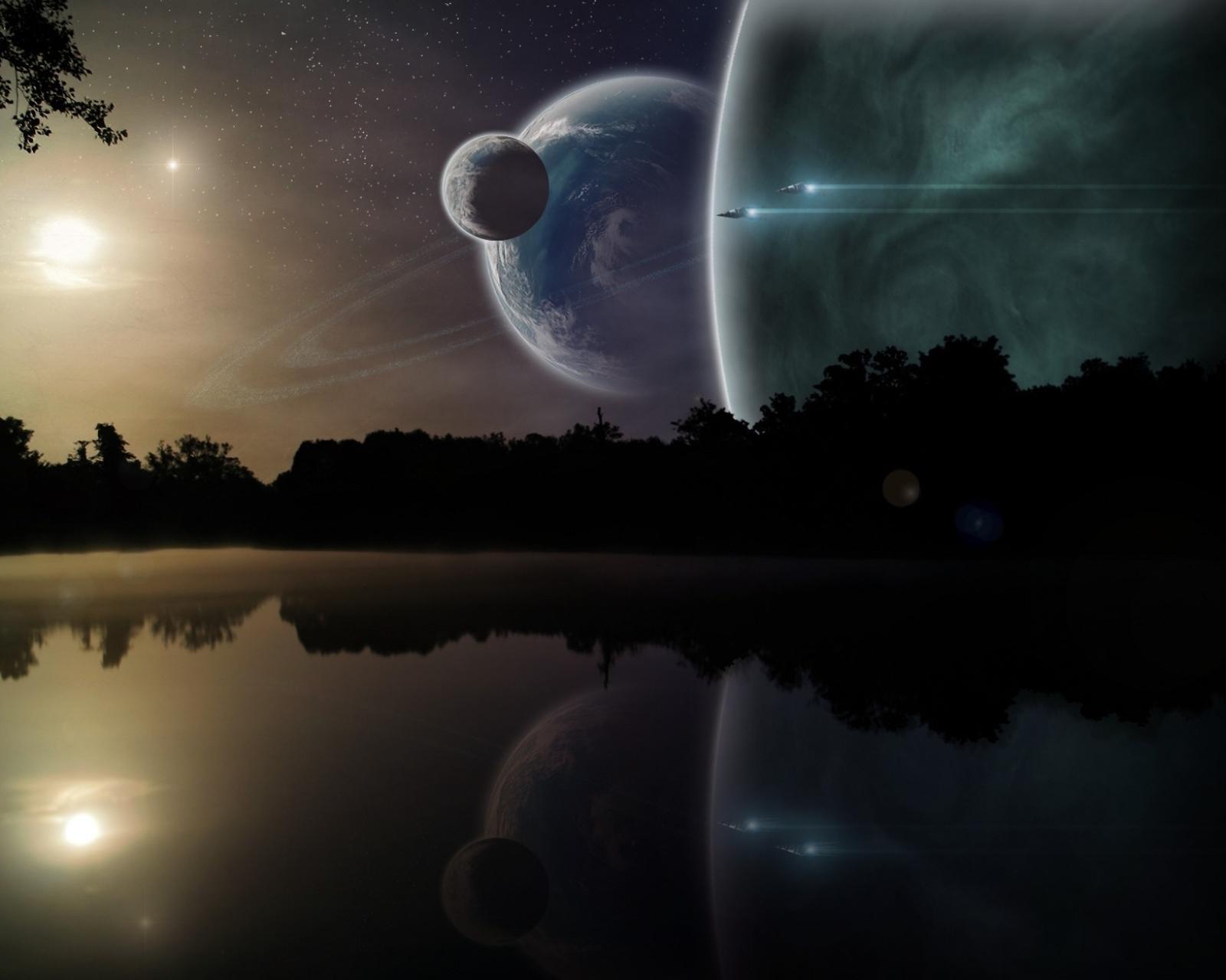 Sci Fi Landscape 1600x1280 Mobile Wallpaper