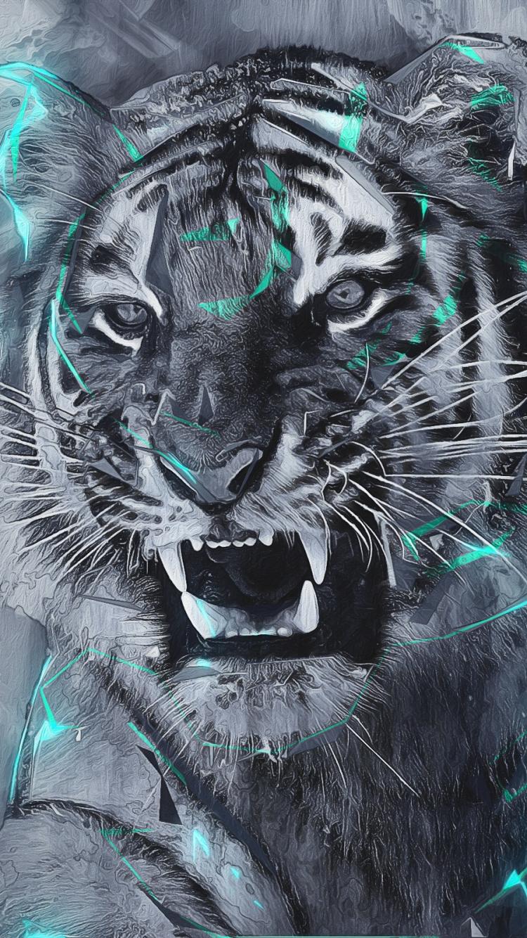 Fantasy Tiger 750x1334 Mobile Wallpaper