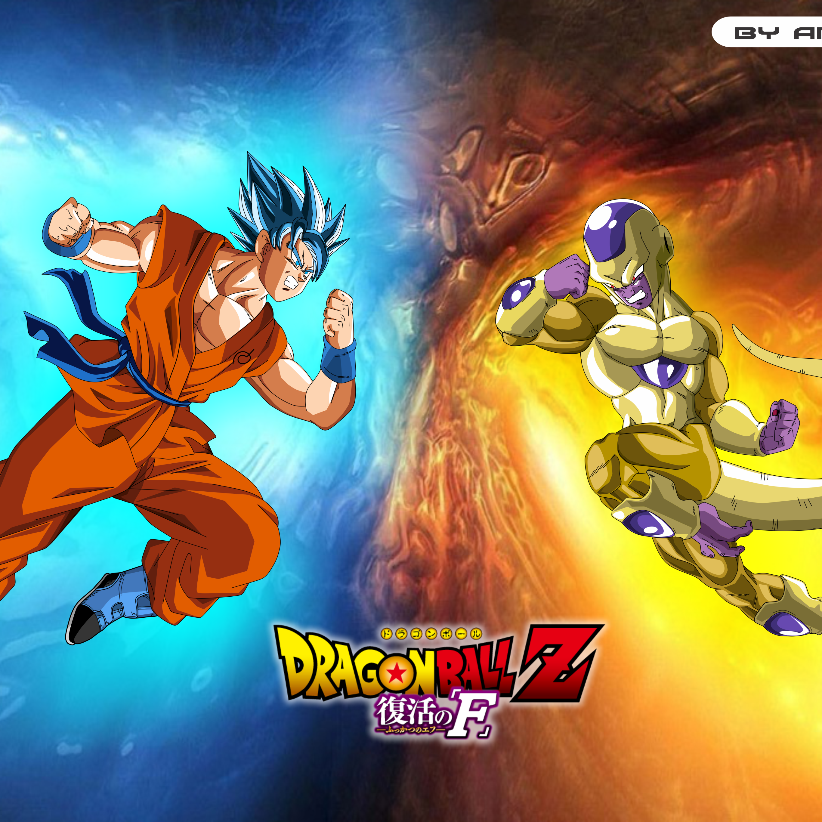 Anime Dragon Ball Z Resurrection Of F 2732x2732 Wallpaper Id