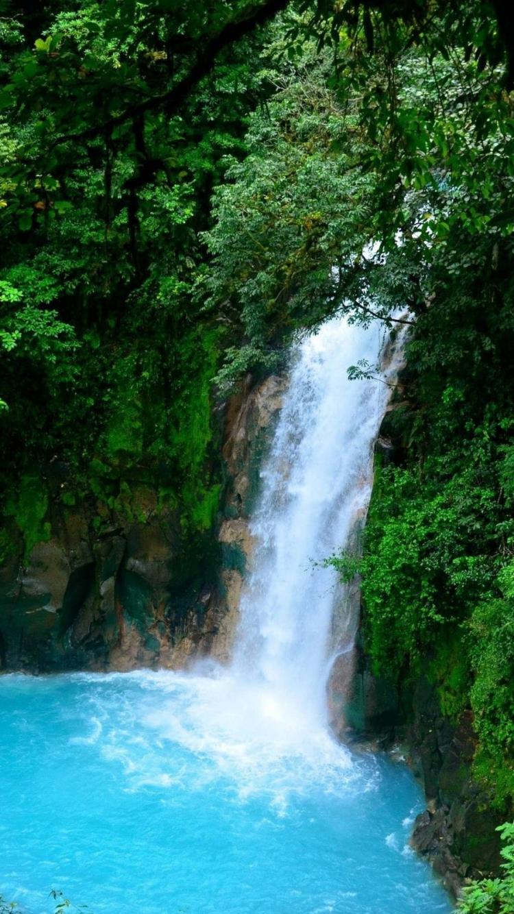Iphone 7 Earth Waterfall Wallpaper Id 640611