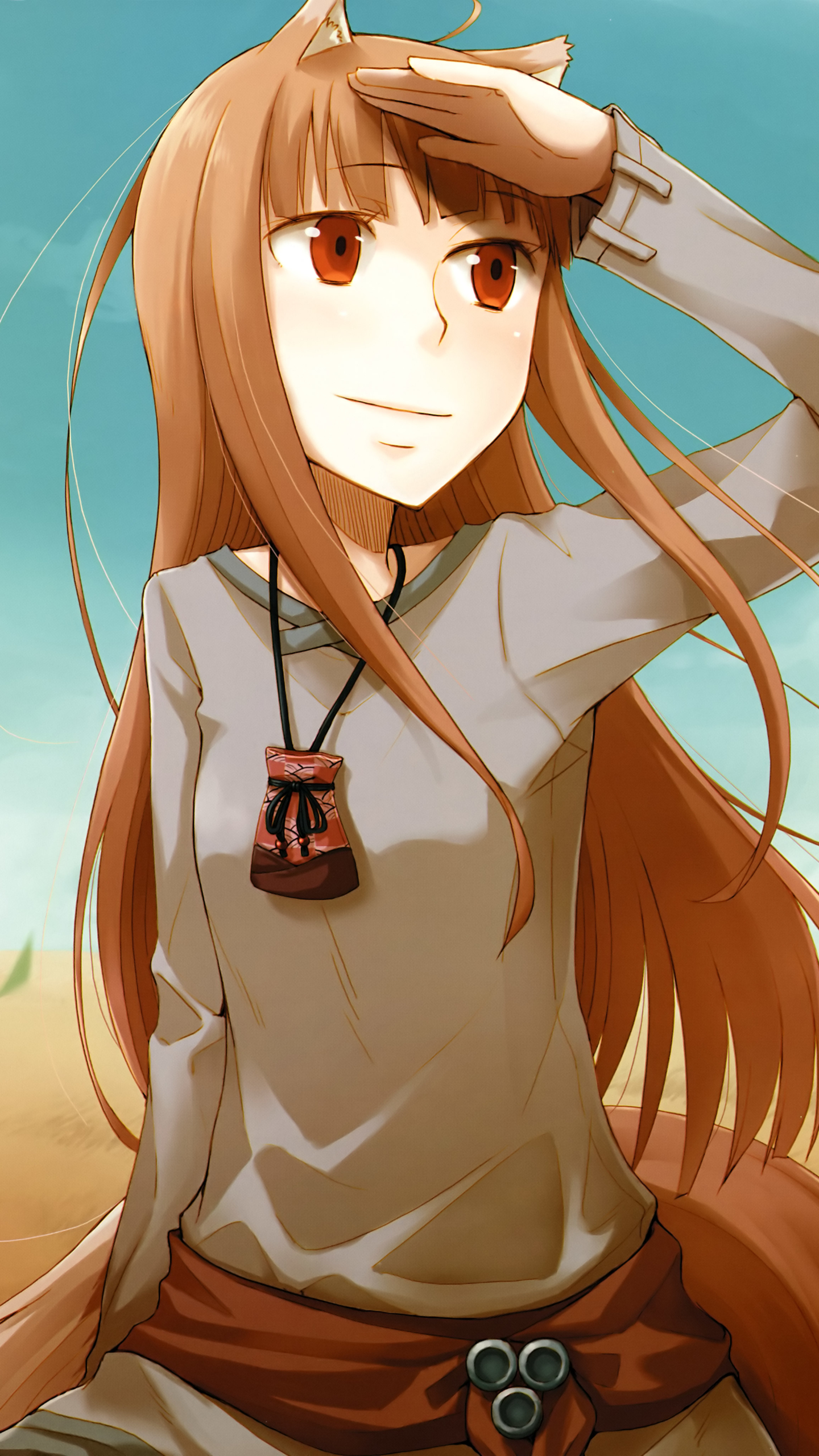 Anime Spice And Wolf 1440x2560 Mobile Wallpaper