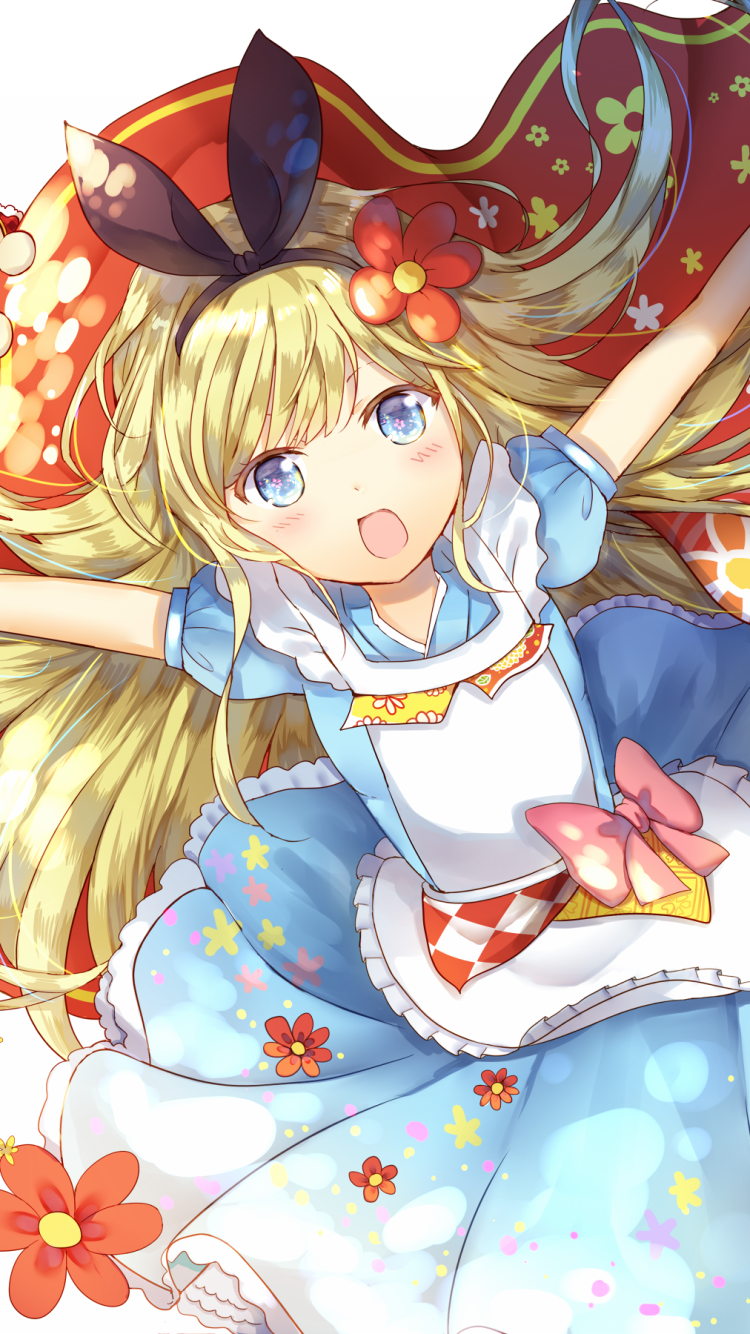 Anime Alice In Wonderland 750x1334 Wallpaper Id 642328 Mobile