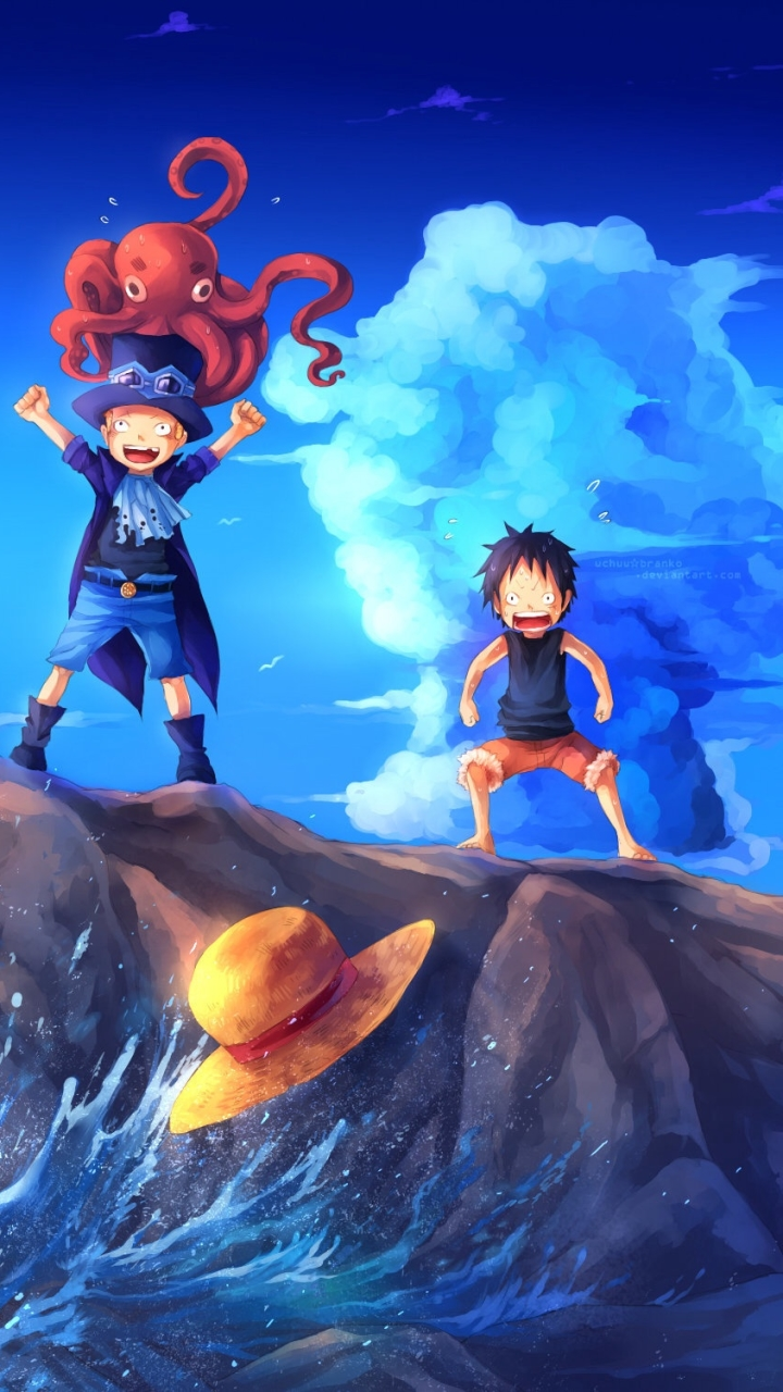Luffy Ace And Sabo 2 Anime One Piece 720x1280 Mobile Wallpaper 644019